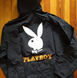 Pacsun x Playboy windbreaker half zip jacket